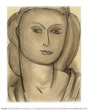 Madame Lucienne Bernard, c.1946 Láminas por Henri Matisse