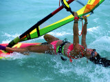 Windsurfing, Aruba, Caribbean Photographic Print by James Kay