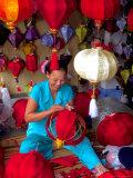Woman Making Lanterns, Saigon, Vietnam Photographic Print by Keren Su