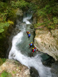 Canyoning in Routeburn Track, South Island, New Zealand Fotografisk trykk av David Wall