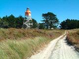 Lighthouse, Farewell Spit, New Zealand Fotoprint av William Sutton