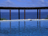 Four Seasons Punta Mita Resort, Beach Vista from Pool, Puerto Vallarta, Mexico Photographic Print by Judith Haden