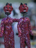 Clay Devils Exchanged Between Friends During the Day of the Dead Festivities, Oaxaca, Mexico Photographic Print by Judith Haden
