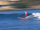 Surfer Rides Waves in the Pacific Ocean, Sayulita, Nayarit, Mexico Photographic Print by John & Lisa Merrill