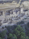 Anasazi Cliff Dwelling, Cliff Palace, Mesa Verde National Park, Colorado, USA Fotografie-Druck von William Sutton