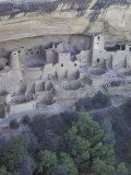 Anasazi Cliff Dwelling, Cliff Palace, Mesa Verde National Park, Colorado, USA Lámina fotográfica por William Sutton