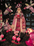 Patron Saint the Virgin of Solitude, Carved Radishes at the Noche de los Rabanos Festival, Mexico Photographic Print by Judith Haden