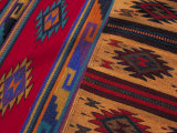 Colorful Hand-Woven Carpet, Oaxaca, Mexico Photographic Print by Judith Haden