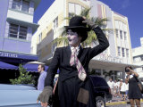 Art Deco Weekend on Ocean Drive, South Beach, Miami, Florida, USA Photographic Print by Robin Hill