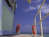 Lifeguard Stand, South Beach, Miami, Florida, USA Photographic Print by Robin Hill