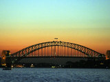 Sunset over Sydney Harbor Bridge, Australia Reproduction photographique par David Wall