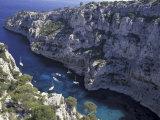 Limestone Cliffs, Calanques, Provence, France Reproduction photographique par Art Wolfe