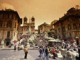 Spanish Steps, Rome, Italy Reproduction photographique par Bill Bachmann
