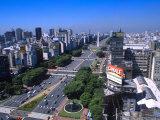 9th de Julio Avenue, Worlds Widest Street, Buenos Aires, Argentina Fotoprint av Bill Bachmann