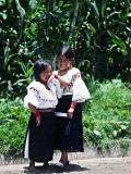 Back-strap Weaving, Ecuador Fotografie-Druck von Charles Sleicher