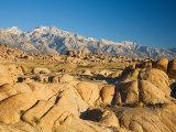 Alabama Hills with the Eastern Sierra Nevada Range, Lone Pine, California, USA Fotografie-Druck von Jamie & Judy Wild
