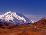 Mt. Denali from Stony Hill in Fall, Mt. McKinley, Alaska, USA Photographic Print by Charles Sleicher