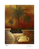 Sunset Palms I Giclee Print by Georgia Rene