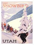 Visit Snowbird, Utah Giclée-Druck