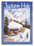 Ski Jackson Hole, Wyoming Gicléetryck