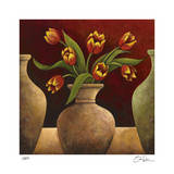 Red Tulips Giclee Print by Georgia Rene