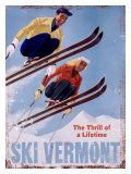 Esqui Vermont, a emoção de uma vida, em inglês Impressão giclée