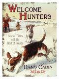 Salt Lake City Welcome Hunters Reproduction procédé giclée