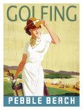 Golfing Pebble Beach Reproduction procédé giclée