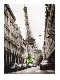 Big Jump in Paris Poster por T. Krusselmann