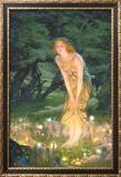 Tarde em meados do verão, cerca de 1908 Posters por Edward Robert Hughes
