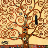 Livets træ, Stoclet-frisen, ca.1909, udsnit Plakater af Gustav Klimt