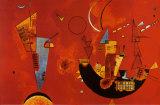 Mit Und Gegen Poster von Wassily Kandinsky