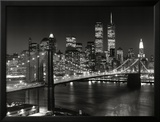 New York, New York, Brooklyn Bridge Poster by Henri Silberman