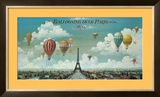 Ballooning Over Paris Print by Isiah and Benjamin Lane