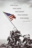 American Flag at Iwo Jima Poster