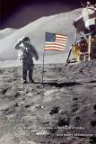 American Moon Landing Kunstdrucke