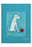 Dalmatian with Red and Yellow Ball Samlertryk af Ken Bailey