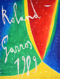 Roland Garros, 1989 Samlertryk af Nicola De Maria