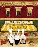 Love to Cook Market Affiches par Dan Dipaolo