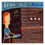 Brownies wirh Almonds Poster di Céline Malépart