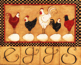 Eggs in a Row Affiches par Dan Dipaolo
