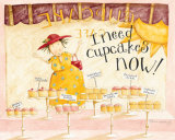 I Need Cupcakes Affiche par Dan Dipaolo