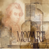 Tribute to Mozart Posters af Marie Louise Oudkerk