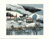Skating on the Village Pond Art par J.G. Desrosiers