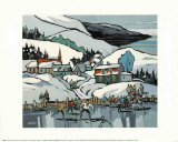 Skating on the Village Pond Prints by J.G. Desrosiers