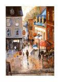 The Petit-Champlain Quarter Poster by Ginette Racette