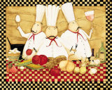 Three Chefs at Work Prints by Dan Dipaolo