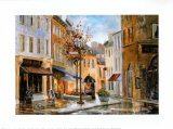 Couillard Street, Quebec Prints by Ginette Racette