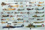 Flugzeugmodelle aus dem I. Weltkrieg Kunstdrucke