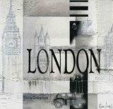 Tribute to London Affischer av Marie Louise Oudkerk